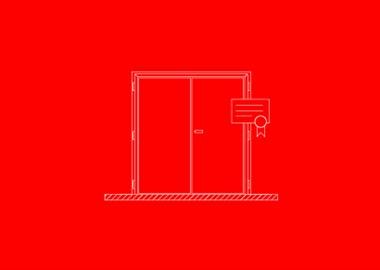 gecertificeerde dubbele deur