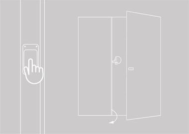 ontgrendeling vaste vleugel dubbele deur