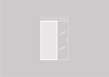 Glazen schuifdeur tegen een bestaande wand